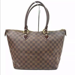 Authentic Louis Vuitton saleya mm damier ebene Bag